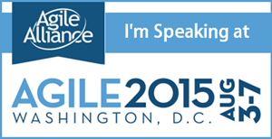 I am speaking at Agile 2015 in Washington, DC