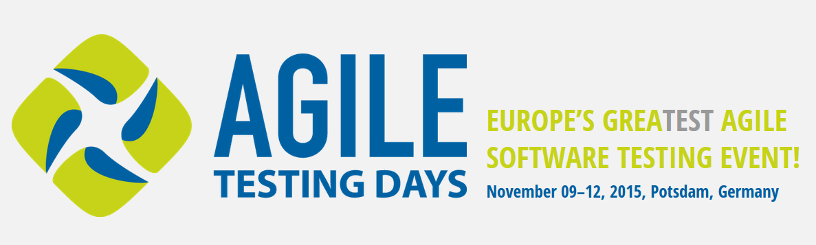 I am speaking at Agile Testing Days 2015 in Potsdam